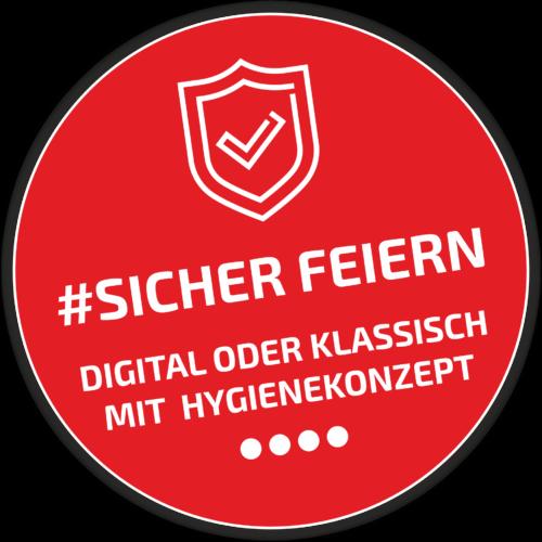 Logo #sicher feiern